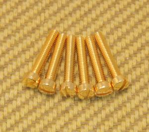 GS-5453-002 Set of 6 Gold USA Humbucker Guitar Pickup Pole Piece Screws
