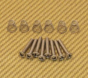 GS-0064-005 Vintage Style Countersunk Pickup or Switch Screws and Springs Fender Strat