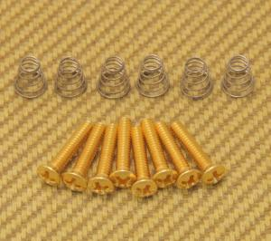 GS-0064-002 Vintage Gold Countersunk Pickup or Switch Screws and Springs Fender Strat