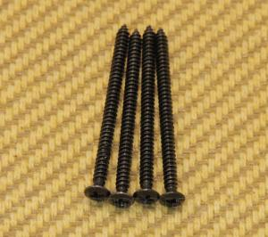 GS-3312-003 (4) Black Mounting Screws for Gibson P-90 Soapbar Pickup