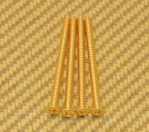 GS-3312-002 (4) Gold Mounting Screws for Gibson® P-90 Soapbar Pickup