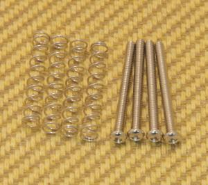 GS-0394-001 Nickel Guitar/Bass Metric Humbucker Pickup Mounting Screws & Springs