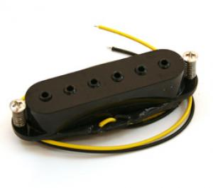 BLACK HEX POLE SINGLE COIL MIDDLE PICKUP