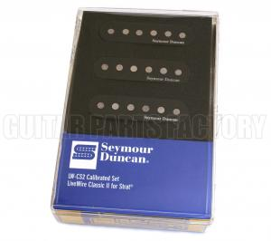 11206-09-B Seymour Duncan Black Livewire Classic II Active Strat® Pickup Set