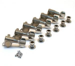 GOTOH SEALED CHROME 6 INLINE TUNERS WITH SCHALLER BUTTONS