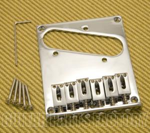 GB-TEC-C Chrome Modern Style High Mass Bridge for Fender Telecaster/Tele®