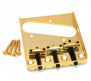 GB-TTS-G Gold 3-Saddle Guitar Bridge For Tele® Telecaster Guitar