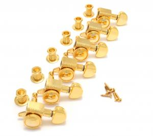 505G6 Grover Roto-Grip Gold 6 Inline Locking Tuners