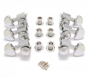 502C Grover Chrome Locking Guitar Tuners 3+3 Tuning Ratio 18:1