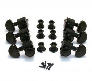 502BC Grover Roto-Grip Black 3+3 Locking Tuners