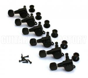 TK-0760-L03 Gotoh Lefty Black Sealed Guitar Tuners
