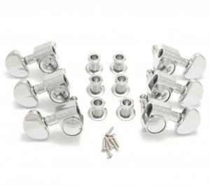 102-18C Grover Rotomatic Guitar Tuners/Tuning Machine Heads 3x3 Chrome