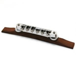 GB-TRB-C Chrome tunematic bridge with rosewood base