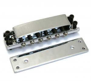 GB-0515-010 Chrome Covered Tunematic Guitar Bridge for Ric Rickenbacker