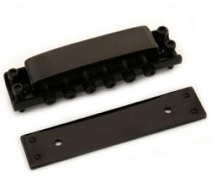 GB-0515-003 Black Covered Tunematic Guitar Bridge for Ric Rickenbacker