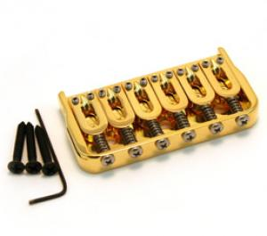 "41065G Hipshot Gold Fixed Hardtail Guitar Bridge .175"" Floor"