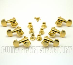TK-0976-002 Schaller Gold Locking 3+3 Tuners Guitar #M6 2900 Germany