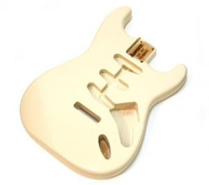 SBF-OW Alder Olympic White Finished Replacement Body for Stratocaster Guitar