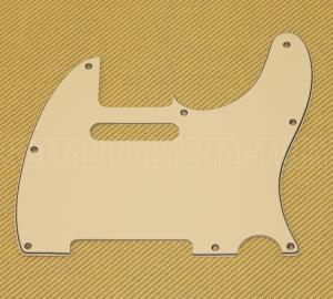 PG-0562-048 3-ply Standard Cream Pickguard for Tele