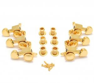 505G Grover Roto Grip 3+3 Mini Gold Locking Guitar Tuners