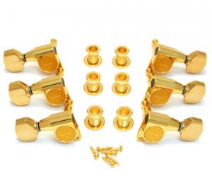 TK-7762-002 Gotoh Gold Sealed 3x3 Mini Guitar Schaller Style Tuners