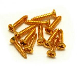 GRETSCH GOLD BEZEL MOUNTING SCREWS