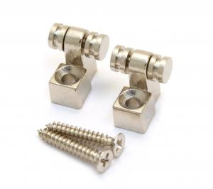 MRSG-C (2) Chrome Roller String Guides For Guitar With Screws