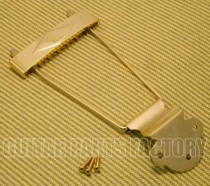 T120G Diamond Gold Long Trapeze Tailpiece for Gibson L-50, L48, ES-125, ES-330