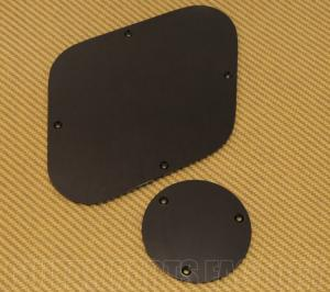 LPIBP-B Black Back Plate Set For Import Les Paul Guitar
