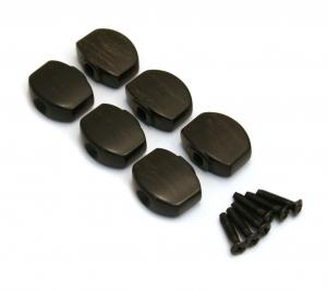 TK-7728-0E0 6 Ebony Buttons for Gotoh Mini Sealed Guitar Tuners