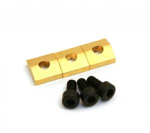 BP-0116-002 Gold Schaller Floyd Rose Guitar Locking Nut Blocks