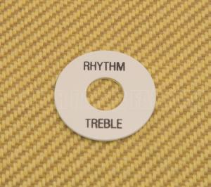 DR-003-01 White Rhythm/Treble Switch Ring Black Lettering