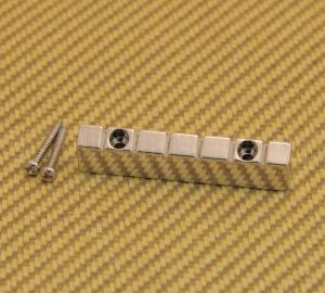 NUT-N-2NI Nickel 6-string Lap Steel Style Raised Guitar Nut w/ Screws 47mm