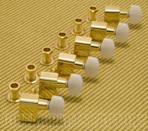 099-0846-200 Fender Gold w/ Pearl Button Guitar Tuners Machine Heads 0990846200