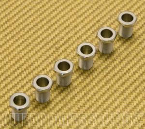 GP072 Grover Guitar Rotomatic Machine Head Screw-in Chrome Tuner Bushings (6)