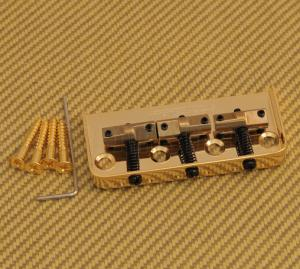 WTBSGD Wilkinson Gold 3-Saddle Short Bridge for Telecaster Tele Guitar