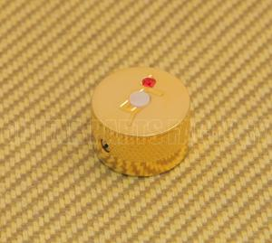 "922-1026-000 Genuine Gretsch Gold ""G""  Knob w/ Jewels"