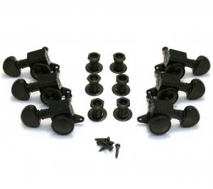505BC Grover Roto-Grip 3+3 Mini Black Locking Tuners