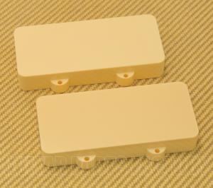 PCJZINH Cream Pickup Cover Set for Fender Jazzmaster No Pole Piece Holes