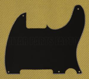 PG-0567-033 3-Ply Black Pickguard for Esquire Telecaster Guitar No Pickup Hole
