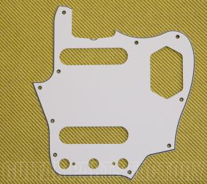 PG-8580-035 White 3-Ply Jaguar '60s Style Truss Cut Out Pickguard USA