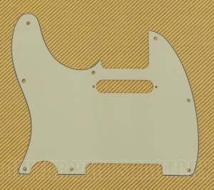 TE-134-L-8PH Lefty Mint 3-Ply Pickguard Telecaster/Tele® 8-Hole w/Pickup Holes
