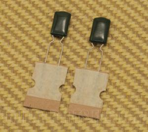 003-6234-023 Fender Guitar Green Capacitors PFF RDL .015uF 100V 10% (2)