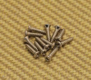 003-7210-049 Fender Screws Oval Head 2 x 3/8 Nickel Set of 12