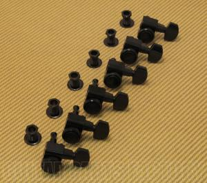 099-0818-400 Genuine Fender Black Locking Guitar Tuners w/ Logo 0990818400