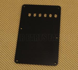 PG-0556-L23 Lefty Black 1-ply Back Plate/Tremolo Cover for Fender Strat
