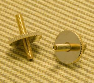 BP-2393-002 Gold Metric ABR Tune-o-matic Style Bridge Studs w/Thumbwheels
