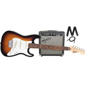 030-1812-032 Fender Squier Stratocaster Brown Sunburst Guitar Pack w/ Amp