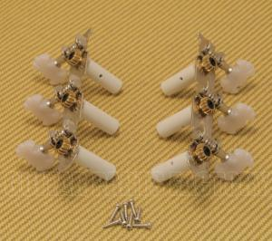 006-2300-000 Fender Classical Nickel Guitar Tuners w/ Plastic Pearl Buttons