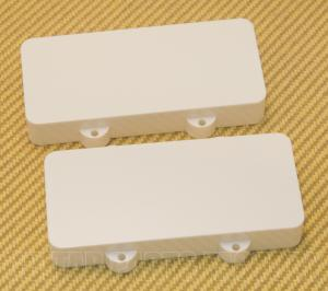 PCJZWNH White Pickup Cover Set for Fender Jazzmaster No Pole Piece Holes